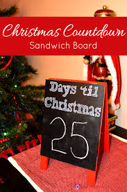 christmas countdown sandwich board the inspiration vault