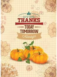 free vector pumpkin happy thanksgiving poster template vector
