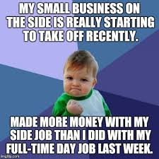 Business Kid Meme - it might be time to leave my job sometime this year imgflip