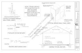 workshop blueprints sds plans g443 14 x 20 x 10 garage plans blueprints downloadable construction drawings