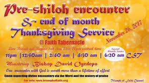 pre shiloh encounter end of month thanksgiving service november