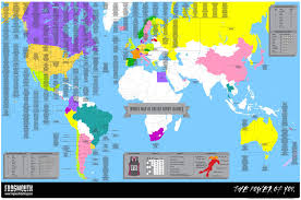 World Map High Resolution by The World Map Of Roller Derby Leagues U2013 Frogmouth