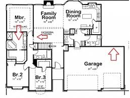 amazing floor plan for a small house 1150 sf with 3 bedrooms and 2