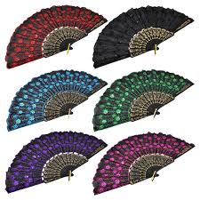 decorative fans bulk deluxe foldable fans with sequins 17 in at dollartree