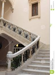 antique stairs of beautiful mansion house stock image image