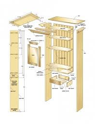 bathroom wall cabinet plans for your reference