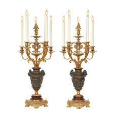 century louis xvi st ormolu candelabra lamps attributed to f