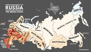map russia to usa population density of russia with u s equivalents maps