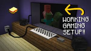 minecraft mcpe how to make a working gaming setup no addons