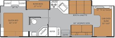 Coachmen Class C Motorhome Floor Plans Class A Rv With Bunk Beds 34j Class A Bunkhouse Motorhomes