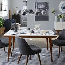Black White Dining Chairs Mid Century Upholstered Dining Chair West Elm