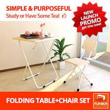 Folding Table Chair Set Qoo10 Funika 22110 Folding Table Chair Set Furniture U0026 Deco