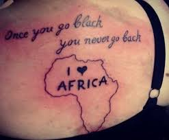 43 latest african continent map tattoos