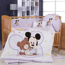 Mickey Mouse Crib Bedding Promotion 8pcs Mickey Mouse Crib Bedding Kit Baby Bedding Bed