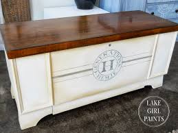 Paint Wood Furniture by Lake Paints Generations Cedar Chest Painted And Stained