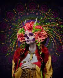 dia de los muertos pictures las muertas deadly pose in colorful tribute to day of