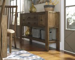 Dining Room Server by Ashley D585 60 Birnalla Rustic Light Brown Finish Dining Room Server