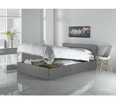 Ottoman Faux Leather Bed Buy Hygena Lavendon Faux Leather Ottoman Frame Grey At