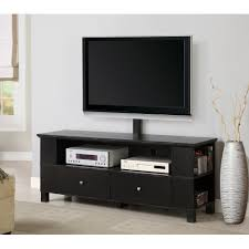 Dark Wooden Tv Stands Dark Brown Painted Mahogany Wood Tv Stand With Mount For Large Led