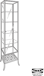 Cabinet Assembly Download Ikea Klingsbo Glass Door Tall Cabinet Assembly