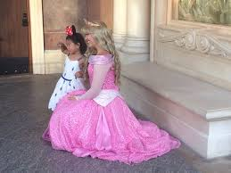 princess aurora greets fan storybook court picture