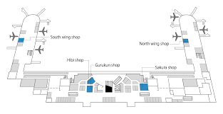 retail shop floor plan about naha air terminal ecommended direct retail shops