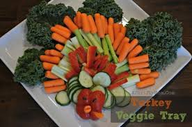 thanksgiving turkey veggie tray healthy finger food