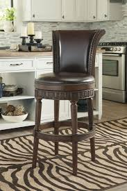 swivel upholstered chairs north shore dark brown tall upholstered swivel barstool