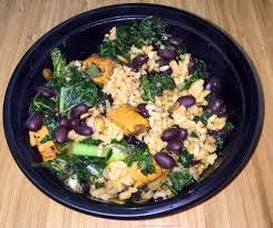 snap kitchen grilled kale hoppin u0027 john with cumin kale spanish brown rice