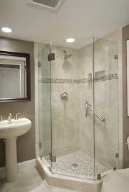Clever Bathroom Ideas by Awesome Bathroom With Corner Shower Download Small Bathroom Ideas