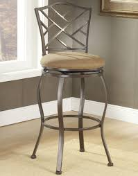 Height Of Stools For Kitchen by Furniture Bronze Iron Bar Stools Counter Height With Padded Seat
