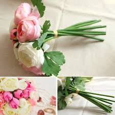 artificial silk flower peony bouquet 9 heads flowers home cafe