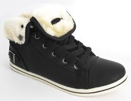 womens ugg trainer boots flat fur hi high top sport ankle plimsole pumps