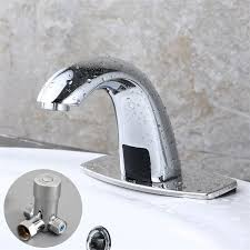 mixing valve for hand sink chrome touchless sensor faucet auto hands bathroom sink tap mixing