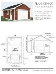 Garage Blueprints 1 Car Attic Garage Plans 384 4 16 U0027 X 24 U0027 By Behm Designs Best
