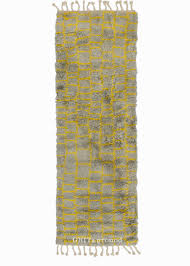 Yellow Runner Rug Boxy Shag Yellow Runner Rug Grit Ground