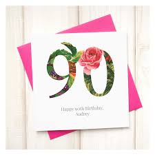 personalised floral 80th birthday card chi chi moi
