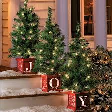 pre lit indoor outdoor trees set of 3 improvements