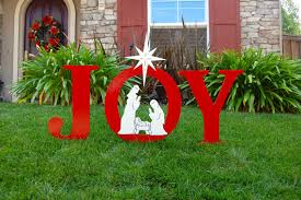 nativity outdoor yard sign