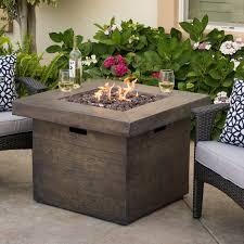 Propane Outdoor Firepit Cali Polyresin Propane Pit Table Reviews Allmodern
