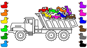 super monster truck coloring pages for kids learn colors with car