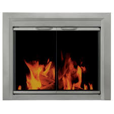 pleasant hearth colby small glass fireplace doors cb 3300 the