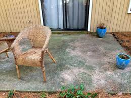 How To Clean Patio Slabs Without Pressure Washer How I Made My Patio Look New Again With Olympic Rescue It