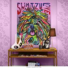 shih tzu love dean russo dog wall decal pop art wall decor zoom