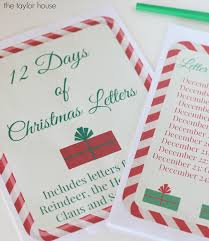 images of christmas letters free printable 12 days of christmas letters the taylor house