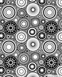 patterns circles zen coloring pages printable