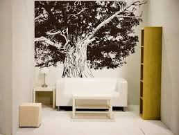 Big Tree Wall Mural Design Decoration For Elegant Living Room Or - Bedroom wall mural ideas