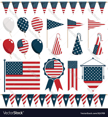 american decorations royalty free vector image