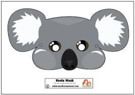 free koala mask printable craft animal crafts