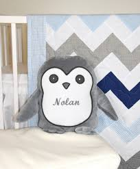 Navy Blue Chevron Crib Bedding by Chevron Crib Bedding Penguin Baby Quilt Gray Navy Blue White